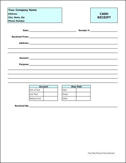 Free Cash Receipt from Formville