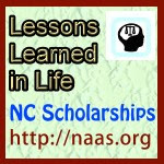 Lessons Learned in Life Scholarships for North Carolina students