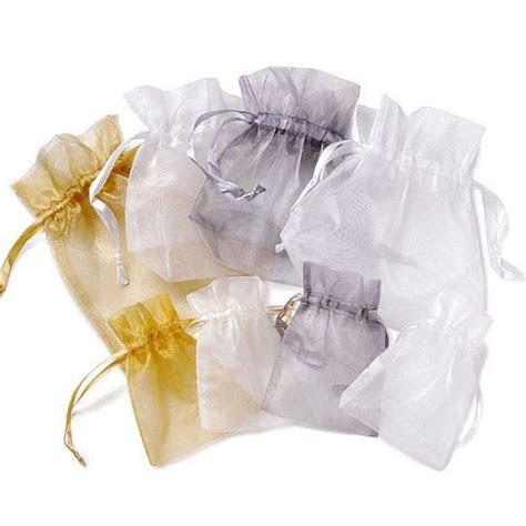 sheer organza wedding favor bags large candy cake weddings