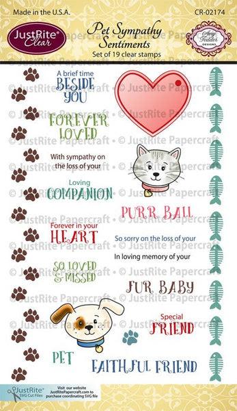 Pet Sympathy Sentiments Clear Stamps