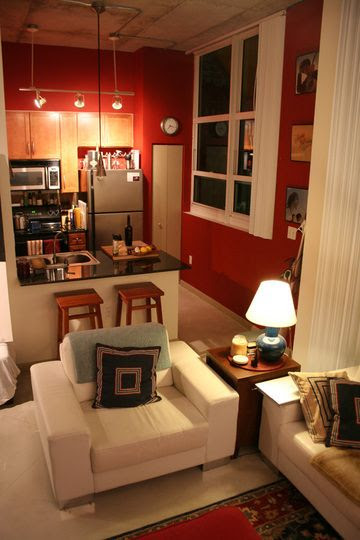 i like the square designed furniture for the small space