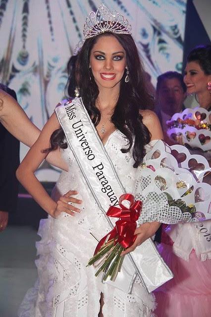 Guadalupe González después de ser coronada Miss Universo Paraguay 2013