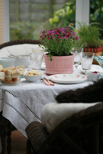 Breakfast in the conservatory