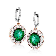 Diamond Emerald Drop Earrings   Pav & Broome Fine Jewelry