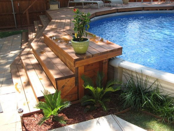 Small Above Ground Pools with Decks