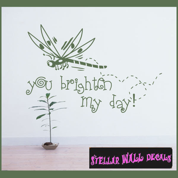 You Brighten My Day Love Laughter Vinyl Wall Decal Sticker Mural