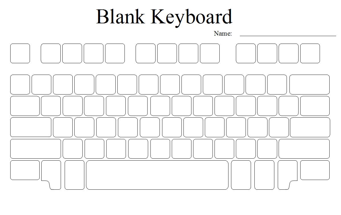 Blank Keyboard Template – 2017 Calendar