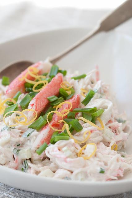 Imitation snow crab salad / Surimisalat / Lumekrabisalat