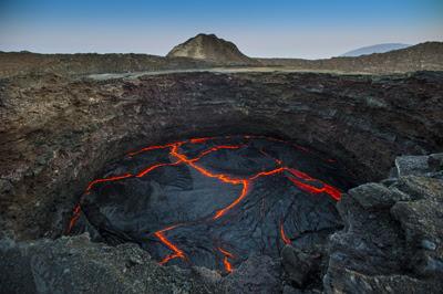 Volcanic opening