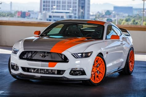 ford sends  squad  custom mustangs  sema amcarguide