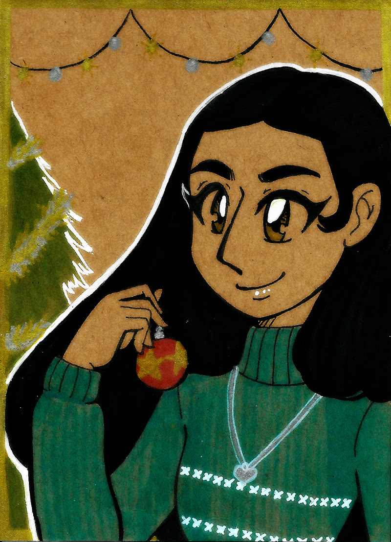 Connie for the Xmas card series! She made a Steven-themed ornament. Commissions are open! / Patreon!