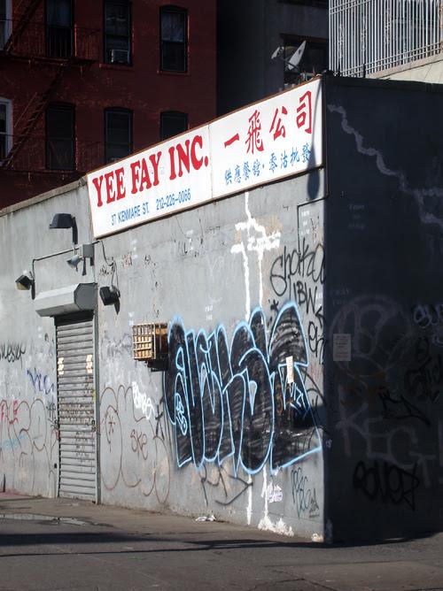 graffiti on Kenmare Street corner