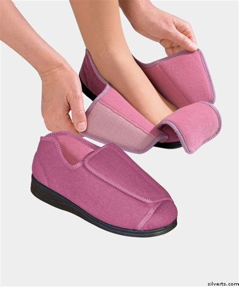 womens extra extra wide width adaptive slippers family tree clothing