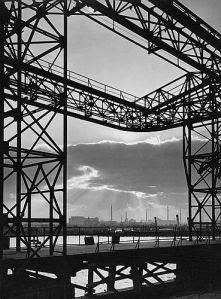 Industrial harbor view, 1920s