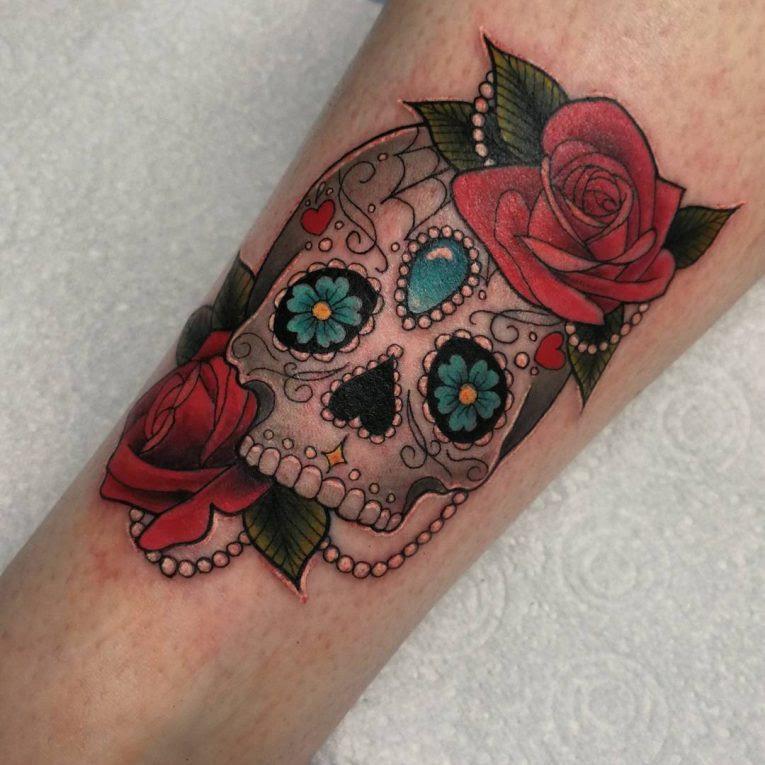 125 Best Sugar Skull Tattoo Designs Meaning 2019