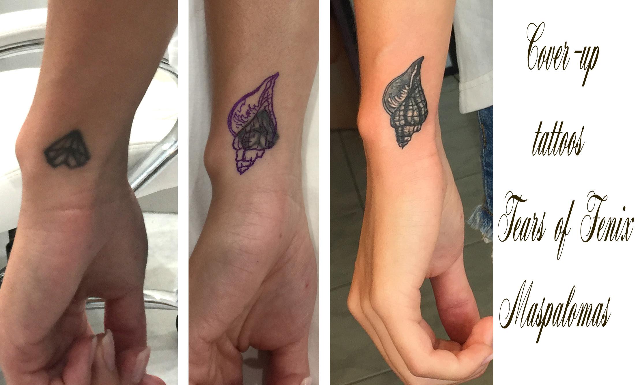 Cover Ups Tatouage Maspalomas Tears Of Fenix Tattoo Studio