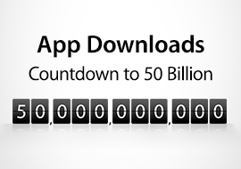 Countdown to 50 Billion App Downloads