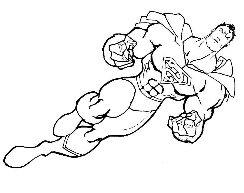 Imprimir Dibujos Para Colorear Superhéroes Para Niños Y Niñas