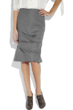 Alexander McQueen Cashmere and wool-blend pencil skirt