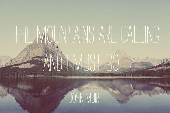 Mountain Photograph - Glacier National Park - Text - Go Away - Montana - Original Signed Fine Art Photograph