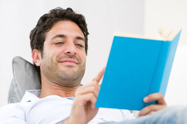 guy reading a book