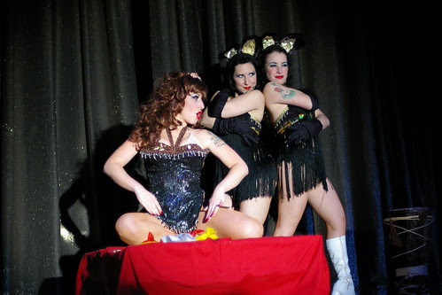 Angie Pontani, with Helen and Tara, Channeling Blaze Starr