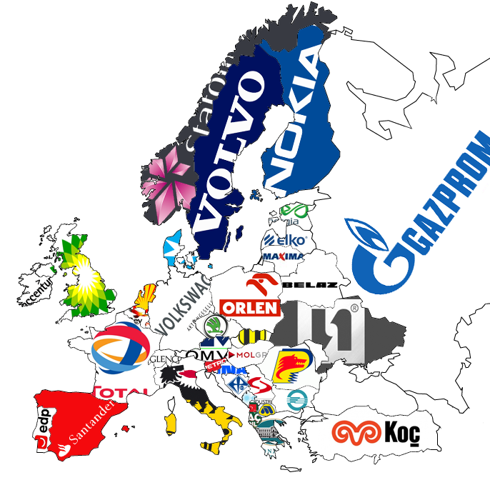 Largest company in each european country
