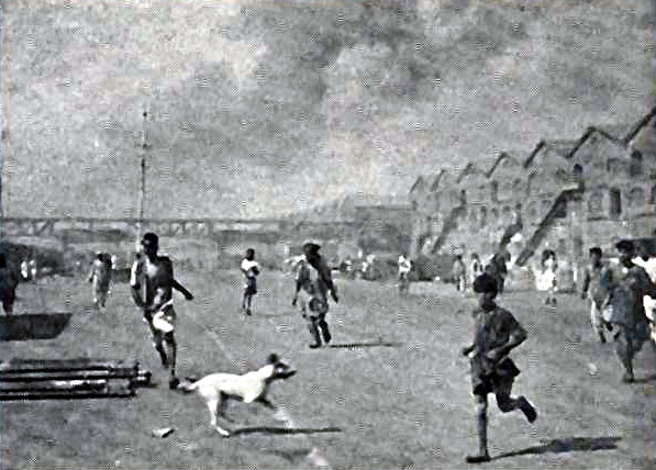 Workers fleeing