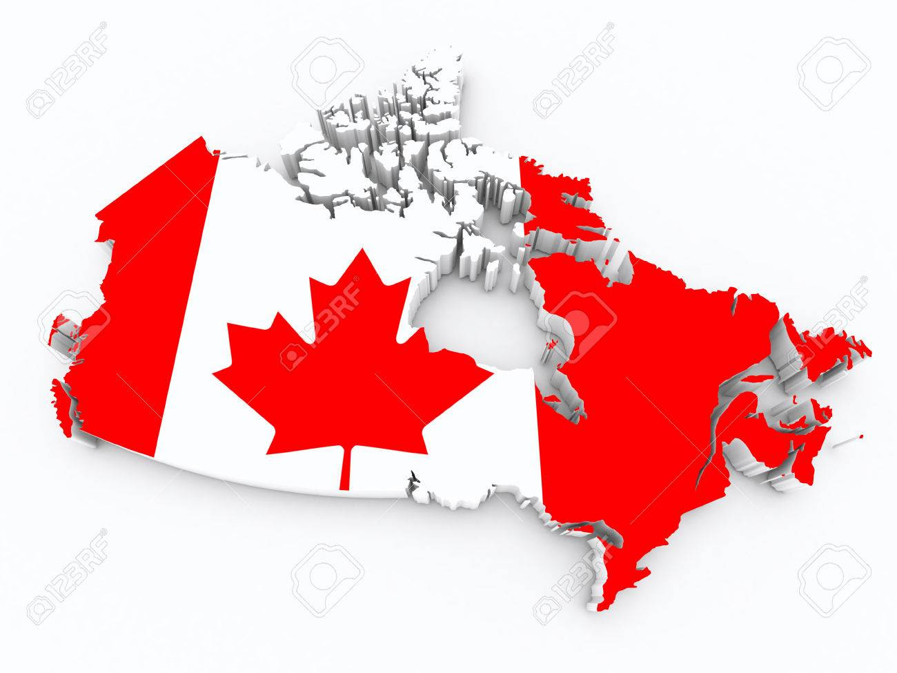 Image result for Canada Flag map