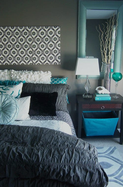 41 Unique And Awesome Turquoise Bedroom Designs The Sleep Judge
