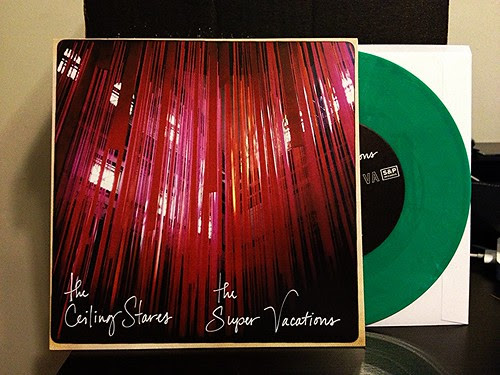 "The Ceiling Stares / The Super vacations  Split 7"" - Green Vinyl by Tim PopKid"