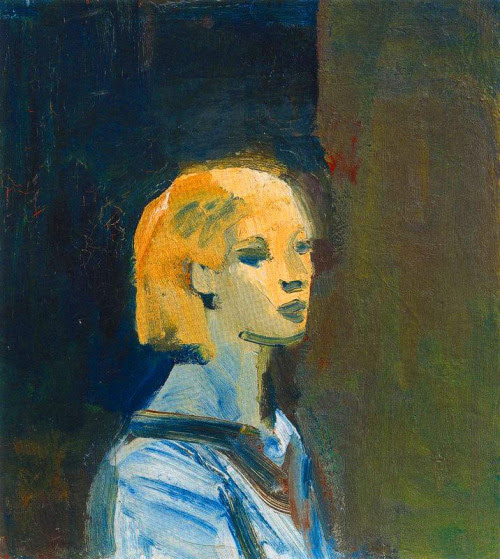 alongtimealone:  Bischoff, Elmer (American, 1916-1991) - Girl with Blue Blouse - 1959 (by *Huismus)