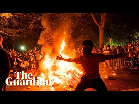 Fires burn near White House as George Floyd protests rage