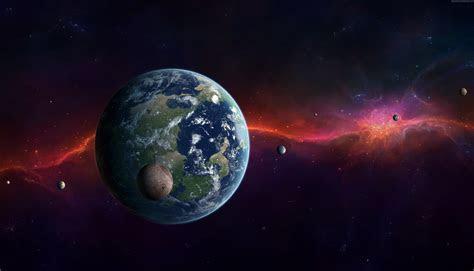 Wallpaper Kepler 452b, Exoplanet, Planet, space, stars