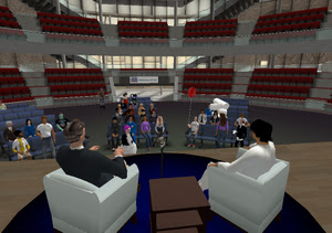 Former Virginia Gov. Mark Warner's avatar appears in Second Life online world