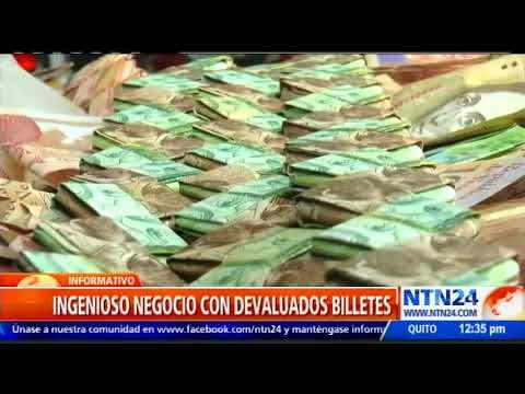 Ahora hacen artesanías con los devaluados bolívares (Info + VIdeo)