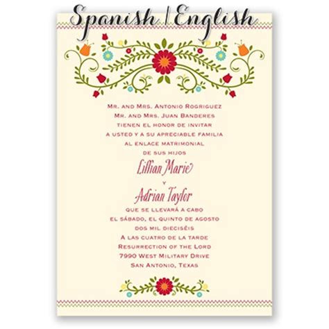 blusa bordada wedding invitation ecru spanish wedding
