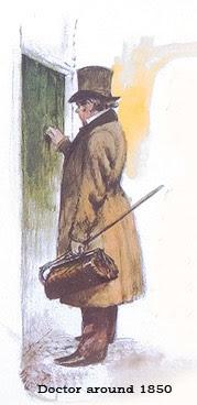 Dokter around 1850 with silk top hat