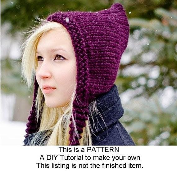 Digital Knitting Pattern PDF - Knit Hat Knitting Pattern PDF for The Signature Pixiebell Pixie Hat - Winter Accessories Winter Fashion