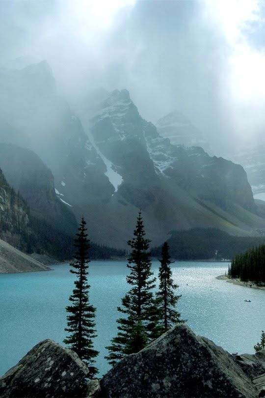 italian-luxury:  Clouds over the Lake by Chad Kruger   Moraine Lake,Banff, Canada
