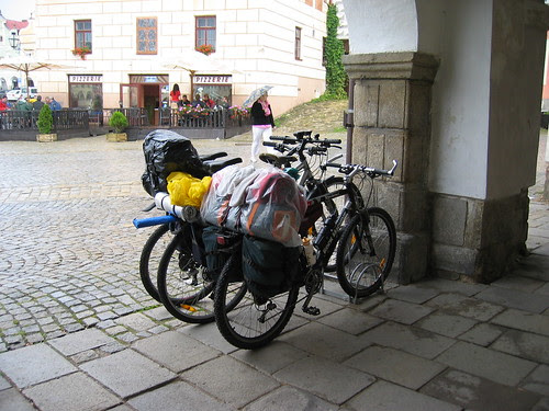 Touring bicycles in Telc
