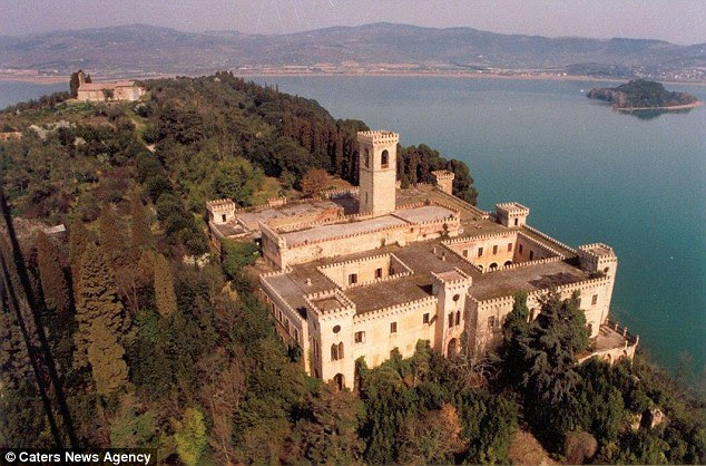 The stunning estate is located on Lake Trasimeno, in Italy's Umbria region, and is on sale for £2,911,200