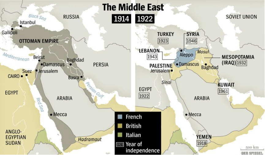 Wwi Middle East Map | World Map