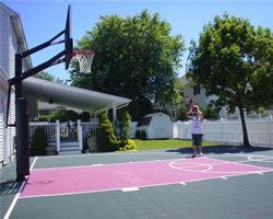 Backyard Basketball Court Flooring In Long Island Ny Flex Court