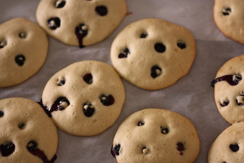 Blueberry Black & White Cookies