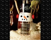 Frosty the Snowman - Vintage TV Vacuum Tube - Christmas Ornament - Electronic Steampunk Large