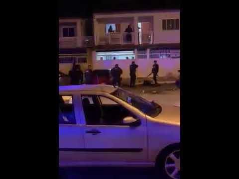 Vídeo: PMs recebem pedradas e cadeiradas ao encerrarem festa clandestina no DF