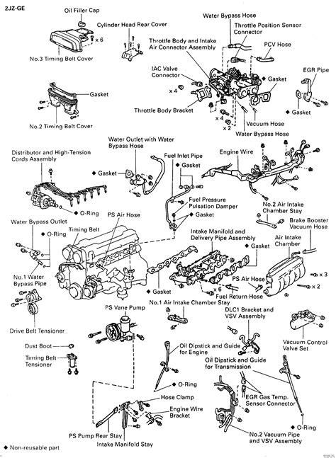 Toyota Supra JZA80 / 2JZ-GE Engine / Cylinder head components