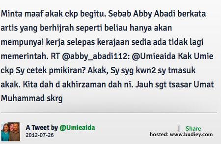 Abby Abadi Gaduh Umie Aida