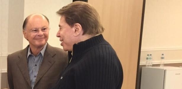 """Silvio Santos entrevista Edir Macedo e vice-versa no """"Domingo Espetacular"""""""